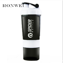 2018 Hot New Protein Powder Shaker Blender Mixer Bottle Sports Fitness Gyn 3 Layers Multifunction BPA free Shaker Bottle