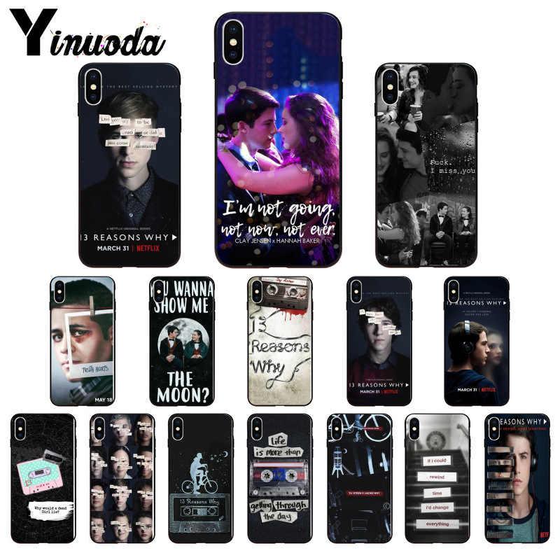 Yinuoda 13 Tiga Belas Alasan Mengapa Hitam Lembut Penutup Telepon untuk iPhone 6S 6 Plus 7 7 Plus 8 8 plus X XS Max 5 5S XR 11 11pro 11 Promax