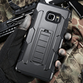 Полный Черный 3 в 1 Hybrid Kickstand Броня Case Для Samsung Galaxy Note 5 4 S6 S6 Край A5 A7 S7 S7 Край S6 Edge Plus Задняя Крышка