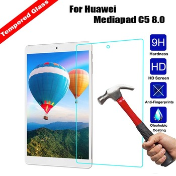 Protective Guard Tempered Glass Tablet Screen Protector Anti-Scratch Film For Huawei Mediapad C5 8.0 9H Hardness Protective Film
