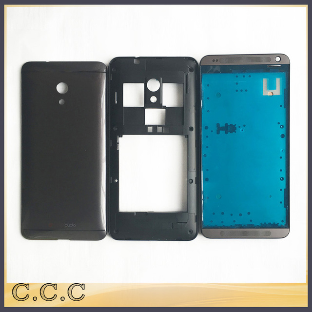 Original complete full housing for HTC Desire sim dual 7060 700 battery cover / back case + middle frame + front plate