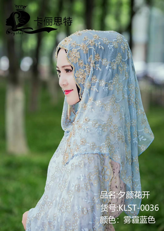 2019 Dubai design haute classique femmes musulmanes mode hijab en soie - 4