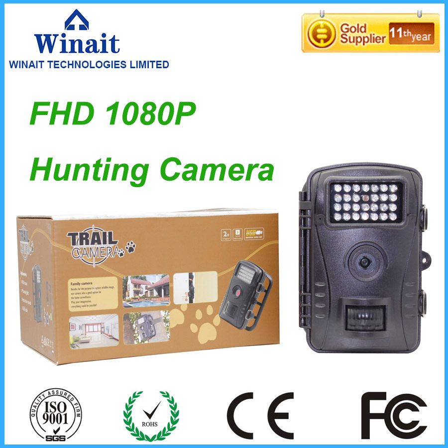 ФОТО Free Shipping WT1003 High quality2 MP image resolution,HD 720P Video field of view widelife digital Infread hunting trail Camera