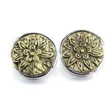 Gold Flower Metal 18mm snap button jewelry for male bracelet M462 watches women bangle jewelry 061018