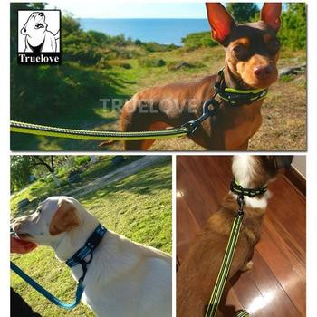 Truelove Easy On Pet Dog Collar And Leash Set Nylon Adjustabele Collar Dog Training Leash Reflective Pet Supplies Dropshipping 4