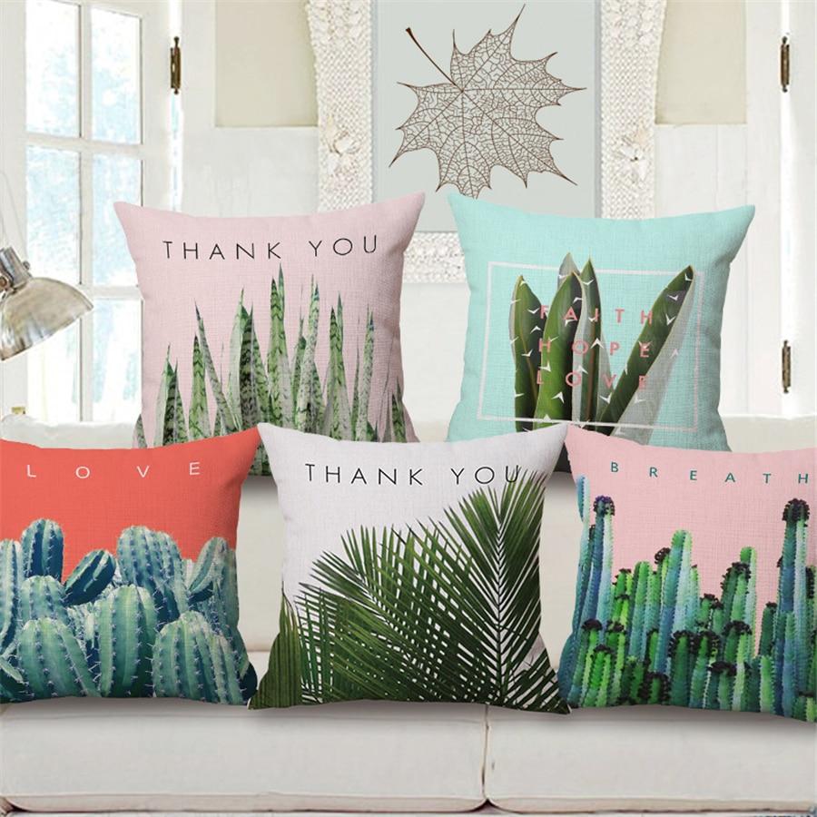 Ozdobné polštářové kaktusové pouzdro pro pohovky Cojines - Bytový textil