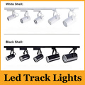Black/White Shell 10W 800Lumens Led Track Lights 120 Angle Warm/Natural/Cool White Led Spot Lights AC 85-265V + CE ROHS UL cUL