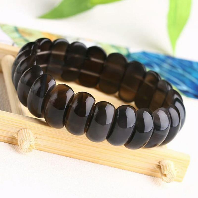 Wholesale JoursNeige Ice Obsidian Natural Stone Bracelets Fine Caving Shape Hand Row Obsidian Couples Amulet Bracelets Jewelry