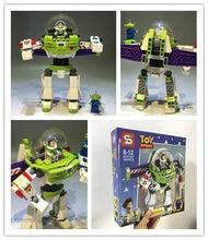 1 unids 20 cm Toy Story Buzz Lightyear figuras de acción construcción Blocs  ladrillo Juguetes para niños con caja de color embal. 14f9194c816
