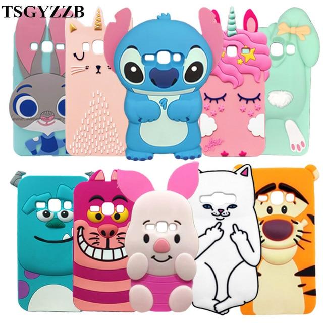 For Samsung Galaxy J1 2016 Case 3D Cartoon Soft Silicone Back Phone Cover For Samsung Galaxy J1 (2016) J120F J120 Funda Coque