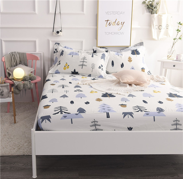Exceptionnel MECEROCK New Cotton Bed Sheet With Elastic Band Printing Soft Fitted Sheet  Hot Sale Mattress Cover