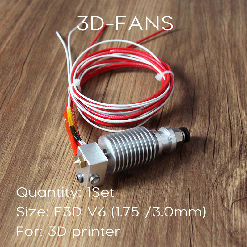 Long-distance 3D Printer V6 J-head Hotend for 1.75mm/3.0mm E3D Bowden Extruder 0.2/0.3/0.4/0.5mm Nozzle ramps 1.4 3d printer all metal j head hotend with cooling fan ptfe tubing for 1 75 3 0mm v6 bowden wade extruder 0 2 1 0mm nozzle