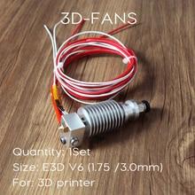 -Расстояние 3D принтер V6 J-head hotend для 1.75mm/3.0mm E3D Боуден экструдера 0.2 /0.3/0.4/0.5mm сопла ПЛАТФОРМЫ 1.4