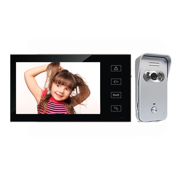 7 Inch touch Color LCD Video Door Phone Intercom System Door Release Unlock Doorbell Night Vision Waterproof door bell camera hot sale video door phone intercom system 7 inch color lcd monitor video intercom night vision alloy waterproof door camera