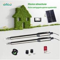 GALO PKM C01 Dual Swing Gate Opener Kit,Intelligent solar powered swing arm gate engine