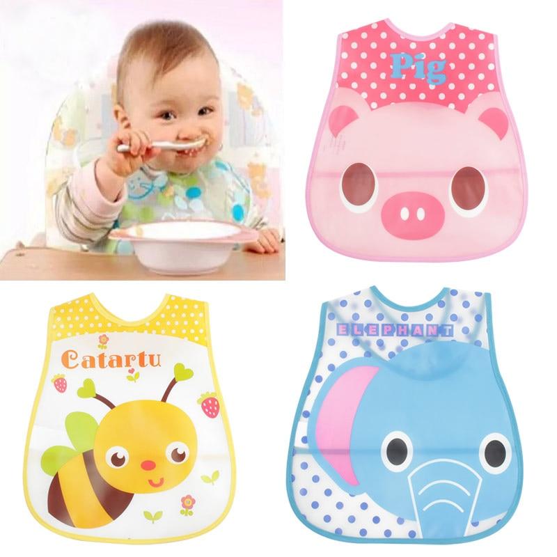 Baby Bibs EVA Waterproof Lunch Bibs Boys Girls Infants Cartoon Pattern Bibs Burp Cloths For Children Self Feeding Care ...
