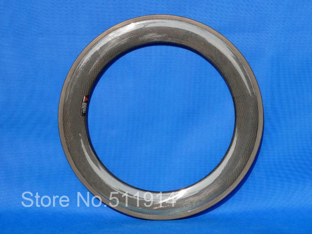 700c graffatrice rim 88mm completa in fibra di carbonio bici da strada cerchi 20.5/23/25mm larghezza