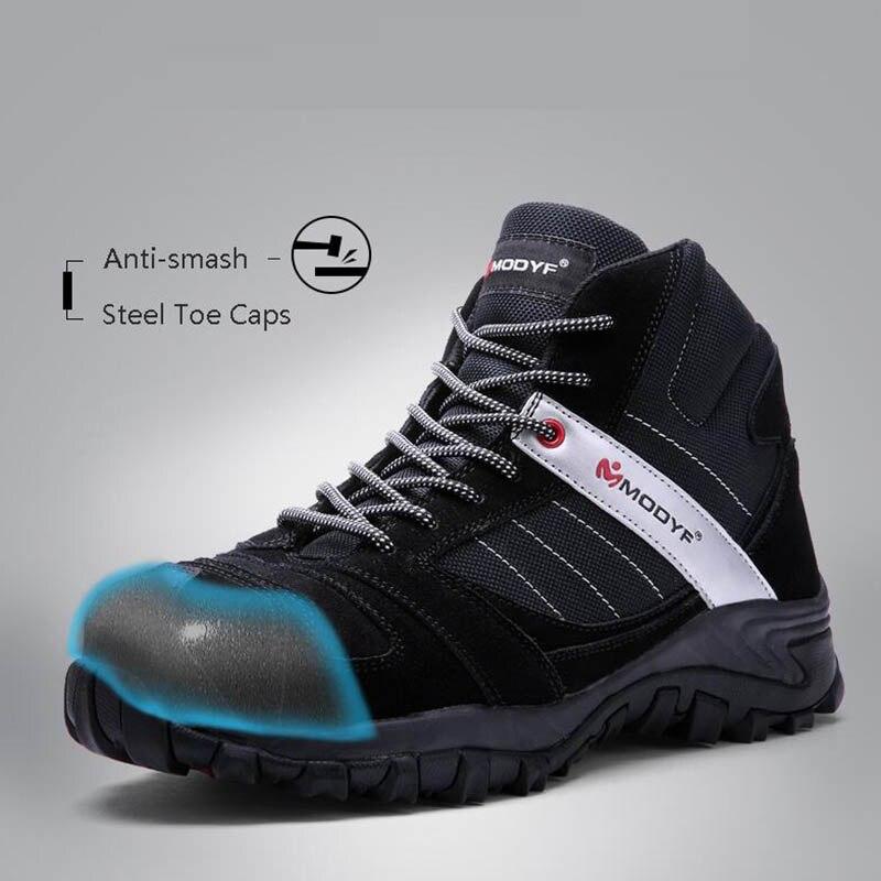 furo De Sapatos Anti esmagamento Black Cobre Industrial Não slip Homens Anti Que Borracha Segurança Biqueira Protecção Dos Botas Trabalho Aço Modyf n4YBwZKq