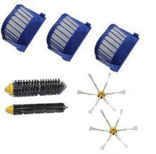 3 AeroVac Filter + Hair Brush kit + 2 side brush for iRobot Roomba 600 Series 595 620 630 650 660 Vacuum Cleaner Accessories