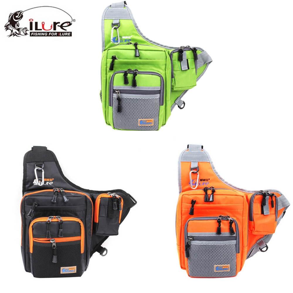 Sincere Ilure Fishing Bag Canvas Carp Fishing Reel Lure Tackle Bag Green/orange/black 32*39*12cm Multifunction Waterproof Shoulder Gear Security & Protection