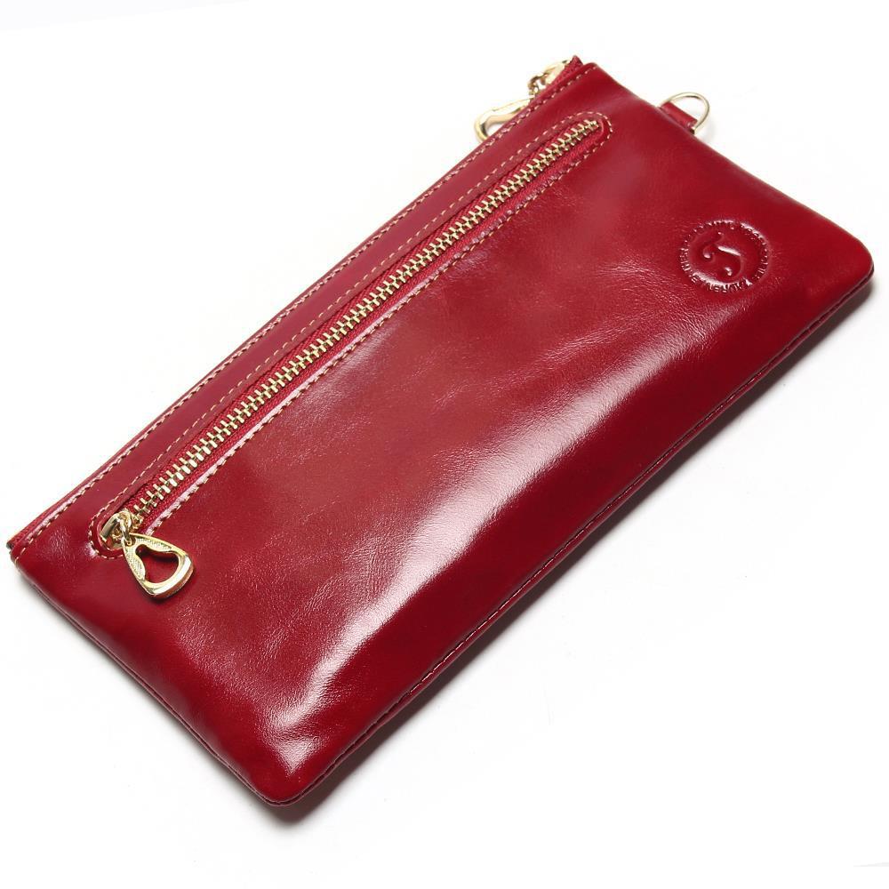 Nouveau portefeuille ultra-mince en cuir pour femme mini sac pour téléphone mobile Europe et amérique sac à main simple en cuir à manivelle