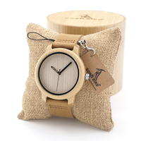 BOBO BIRD A22 Mens Vintage Round Wristwatch With Real Leather Band Bamboo Wooden Quartz Watches In