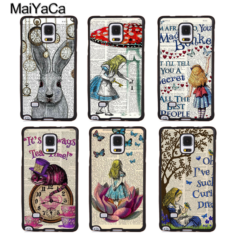 MaiYaCa Alice in Wonderland Quotes Soft Rubber Phone Cases For Samsung Galaxy S5 S6 S7 edge plus S8 S9 plus Note 4 5 8 Cover