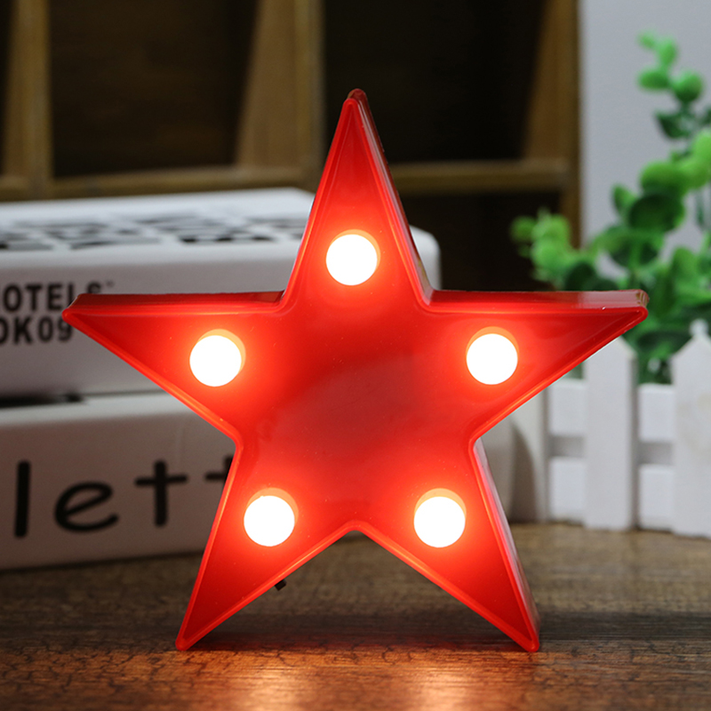 Small Star Shaped LED Desk Lamp Night Lights Decoration Kid Room Night Light Decorations #246493