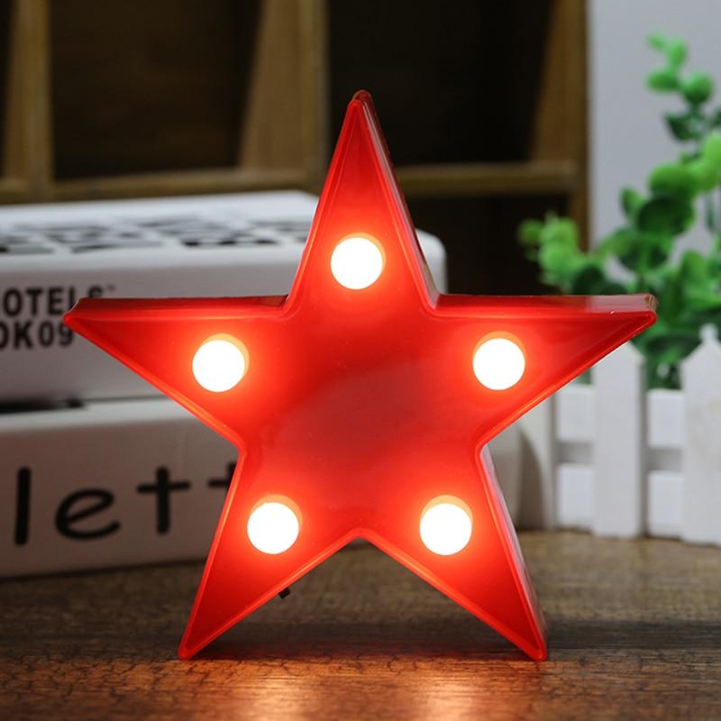 Small Star Shaped LED Desk Lamp Night Lights Decoration Kid Room Night Light Decorations #246493