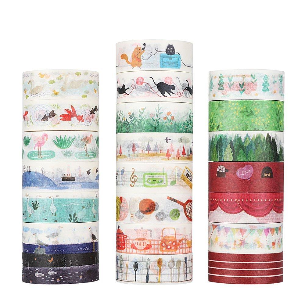 Fun School Life Washi Tape DIY Decorative Scrapbooking Masking Tape Adhesive Tape Set Label Sticker