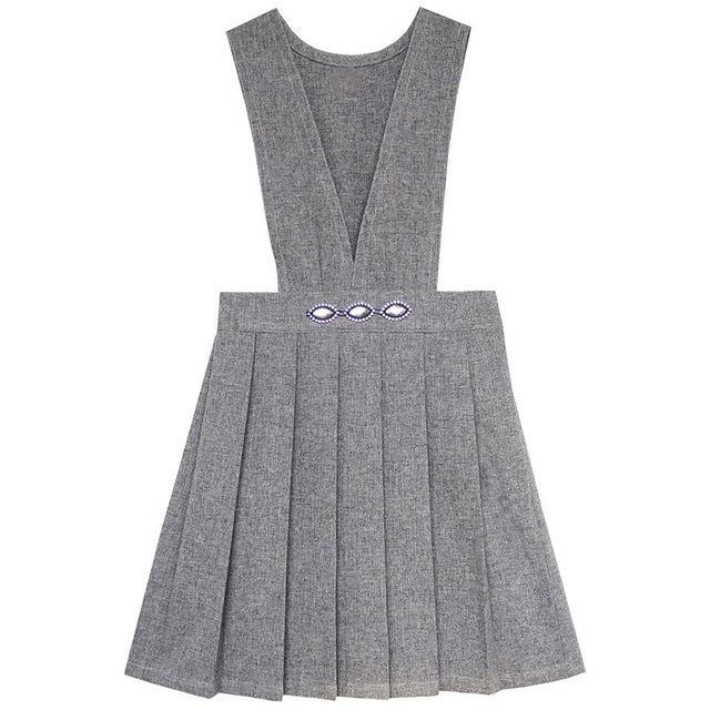 b8f0e69c7 Sunny Fashion ملابس أطفال بنات الخامس العنق مطوي تنحنح زي مدرسي في ...