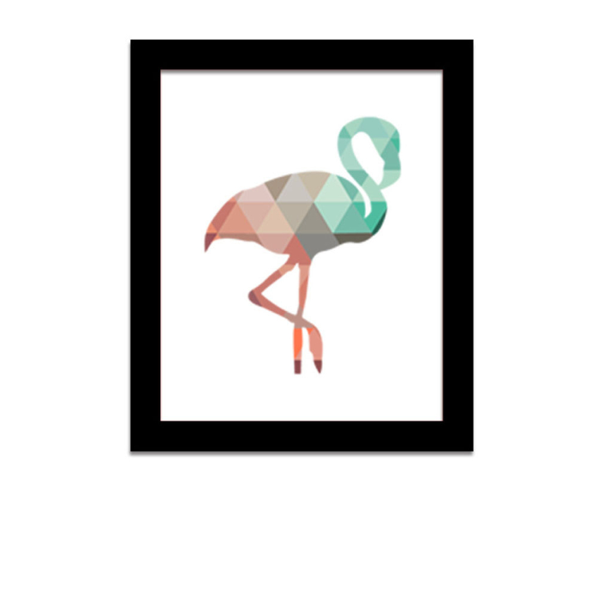 30x25cm geometric animals flamingo canvas art print poster for What kind of paint to use on kitchen cabinets for animal print canvas wall art