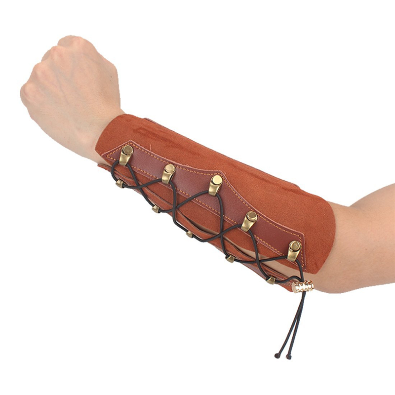 Hunting  Real Leather Shooting Archery Arm Guard Protection Safe//St Guard Black