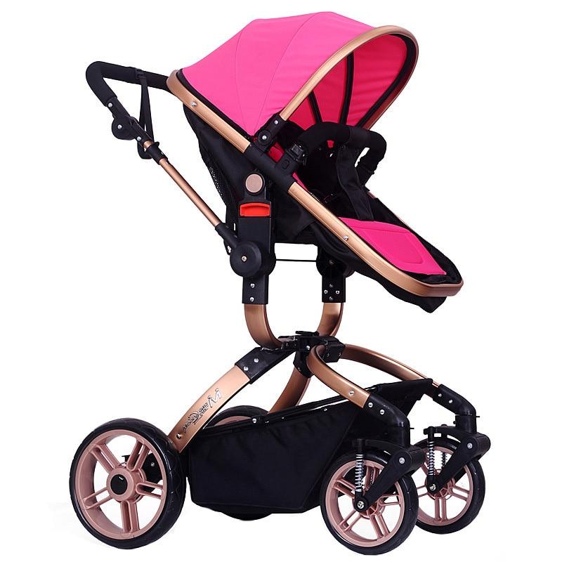 New Arrival  Folding Baby Stroller Infant Pushchair Travel Safety Pram Carriage High Landscape Baby Stroller Toddler Buggy