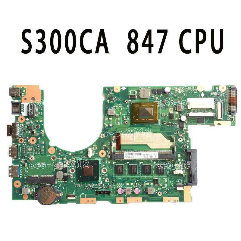 Original S300CA Laptop Motherboard 847 CPU REV2.0 S300CA mainboard Fully tested & working sbc8252 long industrial motherboard cpu card p3 long tested good working perfec