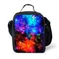 Multicolor galaxy star universo espacio bolsa de almuerzo mujeres de los hombres de mantener caliente los alimentos bolsa de hombro bolsa de almuerzo lonchera del niño para la escuela