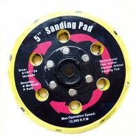 2pcs Pneumatic Air Sanders Pads 5 Inch 125mm Air Sanding Discs Wheel 15 Holes For 5