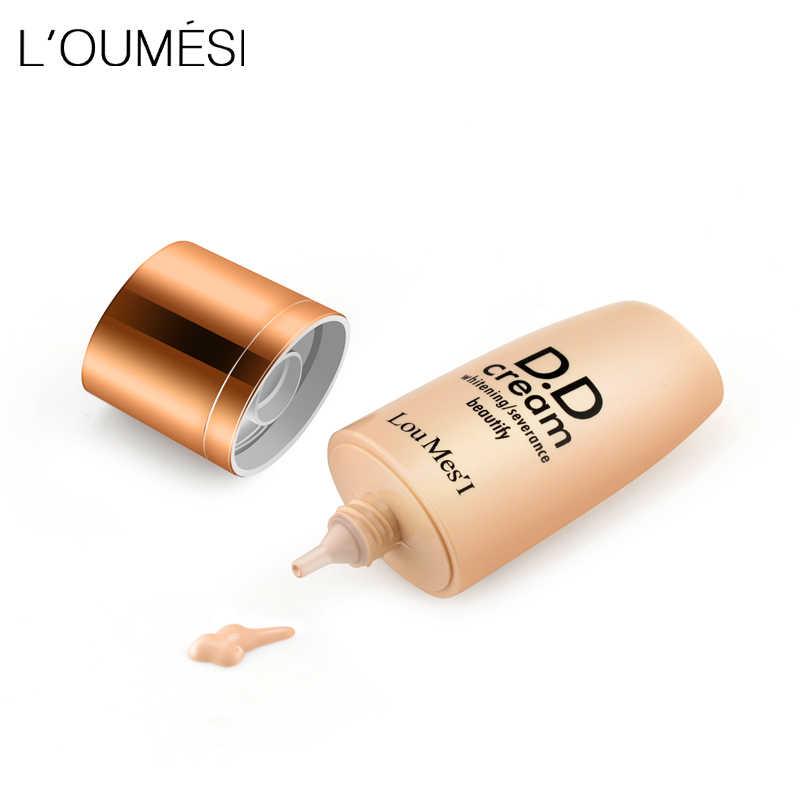 Loumesi dd creme de cuidados com a pele foundationconcealer base de cuidados com a pele fundação de maquiagem pele amarela escura nude rosto dd creme