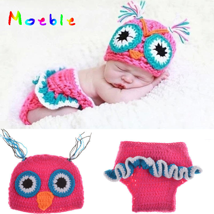 2018 Hot Sale children baby Photo Props crochet clothes Baby Newborn Beanie Owl Knit Crochet Hat MZS-15022