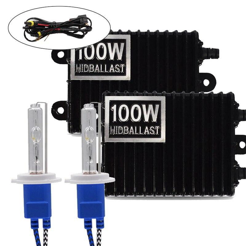6000K H1 H3 H4 H7 H11 9006 100W 4300K 8000K Ballast HID Xenon Kit 12V Car Light Headlight 9005 9006