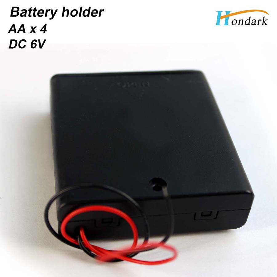 6V 4X1 5V waterproof battery holder 4XAA 4AA battery box 4XLR06 battery shell with ON OFF