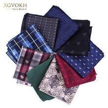 New cravat Silk Hankerchief Scarves Practical Hankies Mens Pocket Print formal wedding 23*23cm dress Collocation accessories