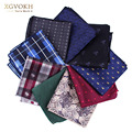 New cravat Hankerchief Practical Hankies Men's Pocket Print formal wedding 23*23cm dress Collocation accessories