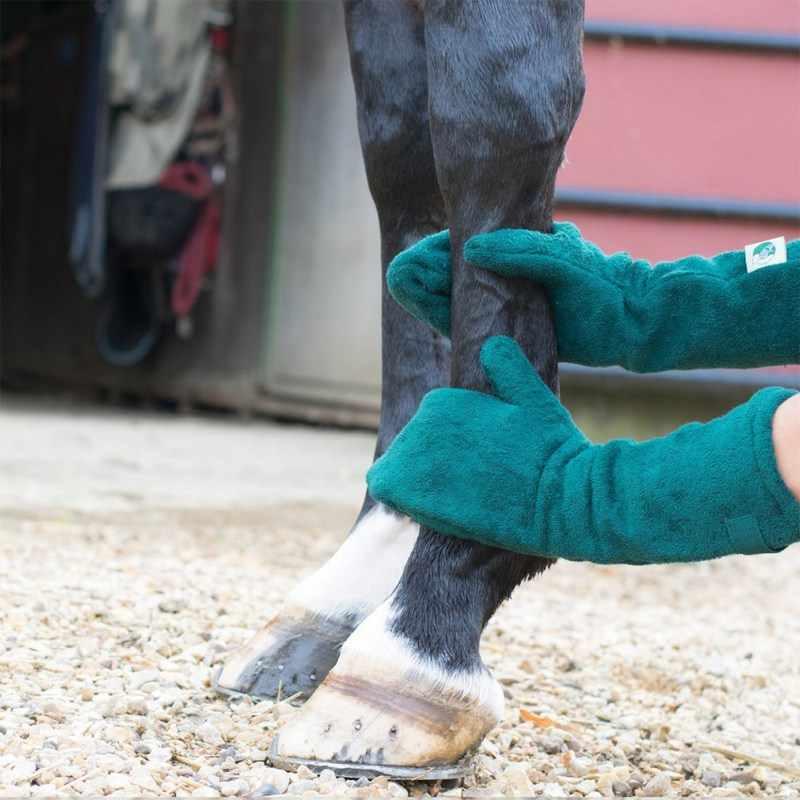 Ultra Penyerap Microfiber Mandi Sikat Grooming Sisir Pijat Anjing Peliharaan Handuk Pembersih Sarung Tangan untuk Pengeringan Anjing Kaki Kuda Bulu