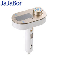 JaJaBor FM Transmitter Modulator Car Mp3 Player Wireless Bluetooth Handsfree Car Kit A2DP Support TF Card Playback USB Charger(China)