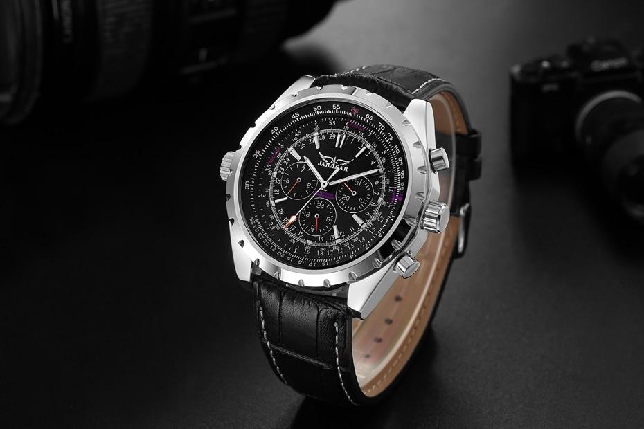 JARAGAR Top Luxury Brand Men Watch Mens Fashion Mechanical Watches Man Casual Business Waterproof Wristwatch Relogio Masculino