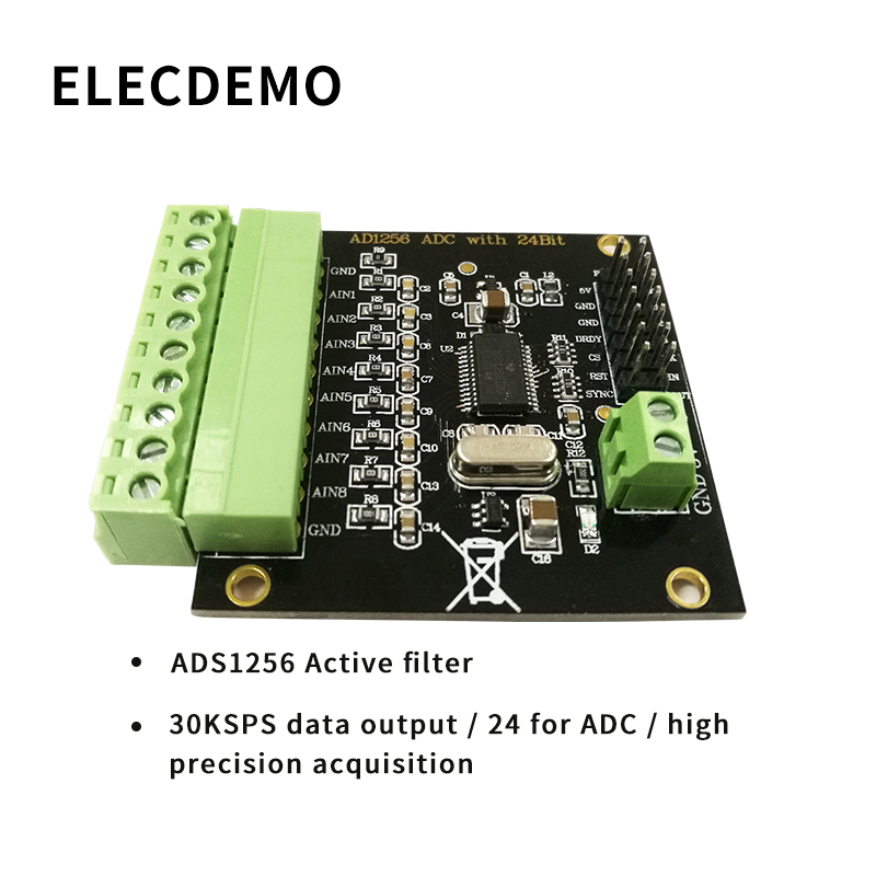 Demo Board & Accessories Demo Board Accessories Ads1256 Module 24-bit Adc Ad Module High Precision Adc Acquisition Data Acquisition Card Analog To Digital Converter Aromatic Character And Agreeable Taste