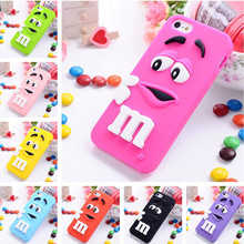 High Quality Cartoon Candy Color Rubber Phone Case For iPhone 6 6S 7 Plus 4 4S SE 5 5S Soft Silicone Back Cover Protective Shell