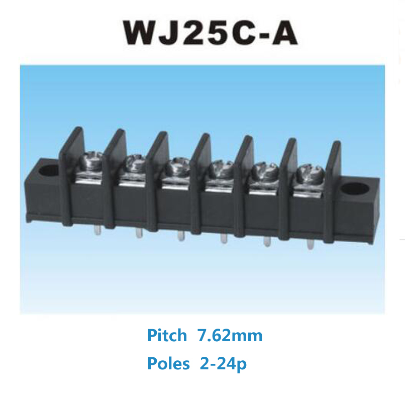5pcs Pitch 7.62mm Straight Pin 2P 3P 4P 5P 6P 7P 8P Barrier Screw PCB Terminal Block Connector 7.62mm pitch With Screw Hole потребительские товары 6p6c pcb 10 por pcb jack s 6p