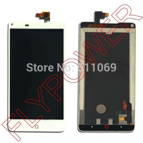 ФОТО 100% Warranty white LCD Screen Display + Touch Digitizer For ZTE Nubia Z5 NX501 Assembly by free shipping